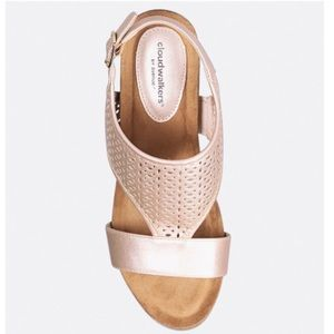 🎁 Cloudwalkers Ava Perforated Wedge Rose Gold 11w